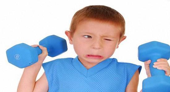 Лучшие упражнения с гантелями для детей