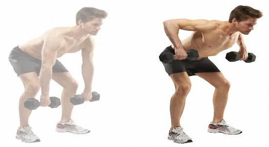 Эффективные упражнения с гантелями для спины