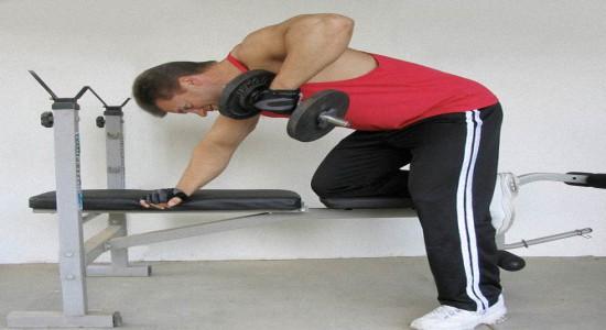 Как накачать шею гантелями